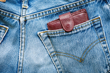 jeans bag with wallet