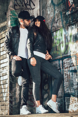 young urban couple posing