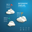 Infographics template layout menu options. Line icons for