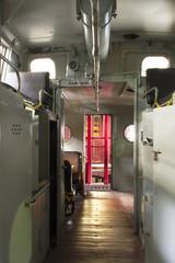 Inside Antique Rail Caboose