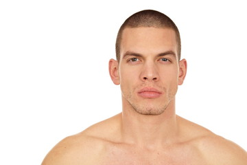 Portrait of young athletic man without shirt