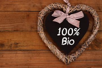 100% Bio Herz-Schild