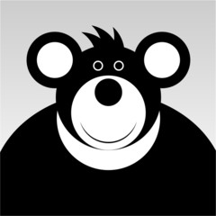 smiling cartoon bear