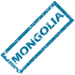 Mongolia rubber stamp