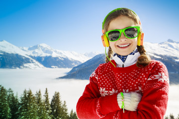 Winter vacation, snow - girl enjoying winter