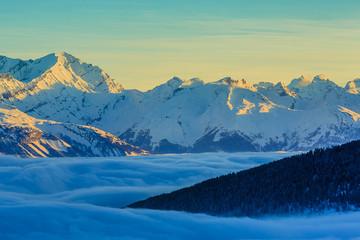 Thyon 4 Valleys, Swiss Alps - sunrise