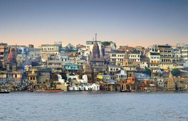 Morning at Ganga River in Varanasi - India