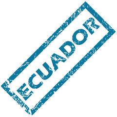 Ecuador rubber stamp