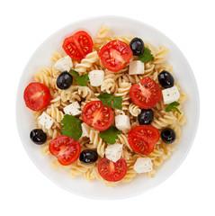 Salad pasta isolated