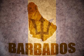vintage barbados map