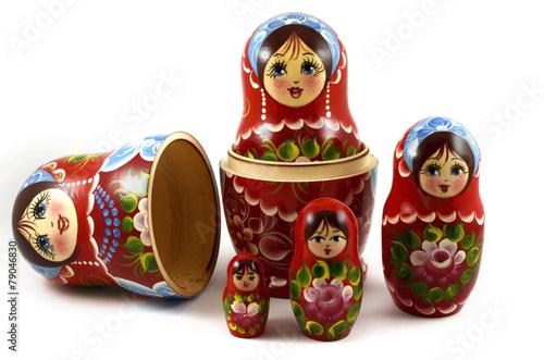 five traditional Russian matryoshka dolls - 79046830