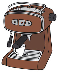 Hand drawing of a electric espresso maker