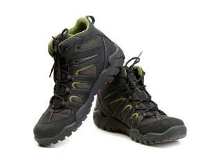 Pair of high-tech waterproof winter boots trekking.