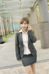 business woman use cellphone