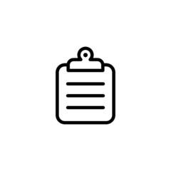 Clipboard Trendy Thin Line Icon