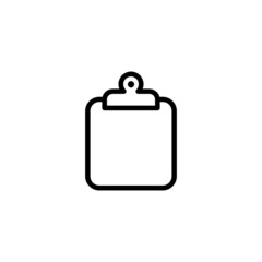 Clipboard Trendy Thin Line Icon