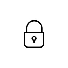 Lock Trendy Thin Line Icon
