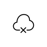 Disconnected Cloud Trendy Thin Line Icon poster