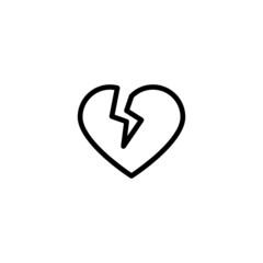 Broken Heart  Trendy Thin Line Icon