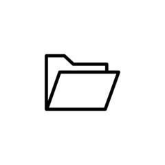 Folder Trendy Thin Line Icon