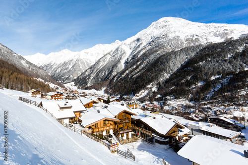 Foto op Canvas Alpen Ski resort Soelden