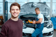 Car mechanic at the service station - 79050849
