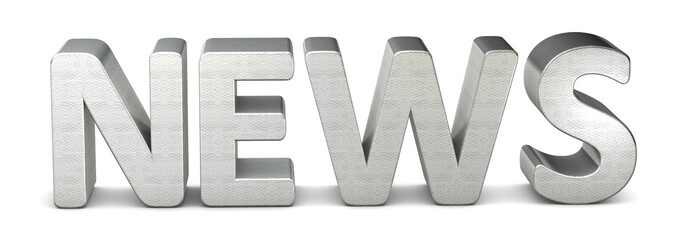 3d text silver news