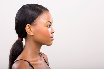 side view of african woman