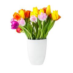 Bunter Blumenstrauß in der Vase