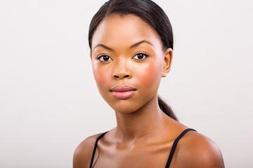young black woman beauty shot