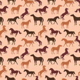 Horse seamless pattern