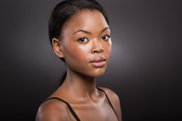 young afro american woman with clear skin