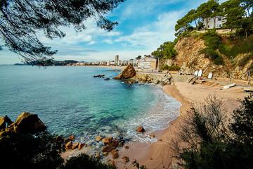 Coast of Lloret de Mar winter 2014