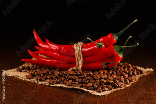 Chili peppers and coffee - 79053095