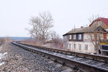 KOZELSK : the image of a railroad tracks