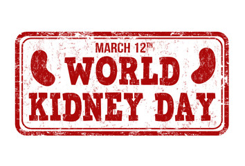 World kidney day stamp