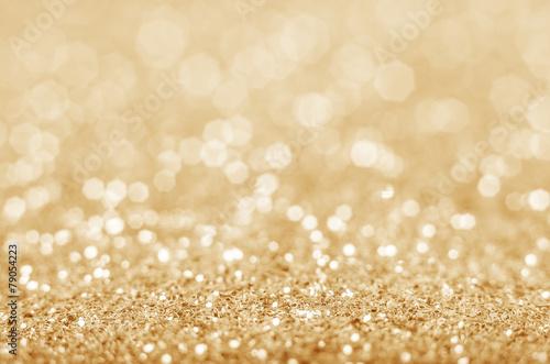 obraz lub plakat Złoty nieostre tło brokat