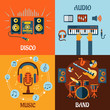 Music, audio, disco, band flat icons - 79054610