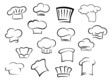 Chef hats or caps for kitchen staff - 79054643