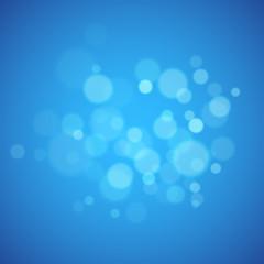 Blue background with defocused lights