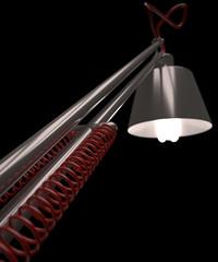 Lampada da scrivania, luce, illuminare, bulbo lampadina