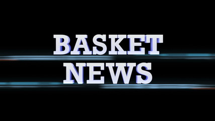 BASKET NEWS Text Transition, with Alpha Channel, Loop
