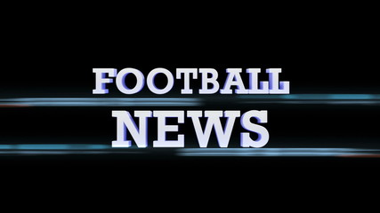 FOOTBALL NEWS Text Transition, with Alpha Channel, Loop