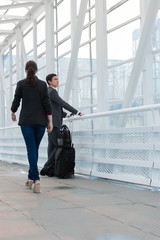 Business people in urban environment of airport