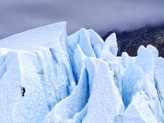 Ice Climber on a Glacier in Alaska