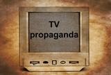TV propaganda poster