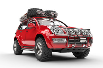 Big Red 4x4 SUV