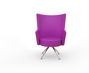 Beautiful Modern violet armchair