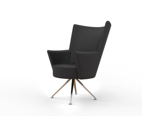 Cool modern black armchair