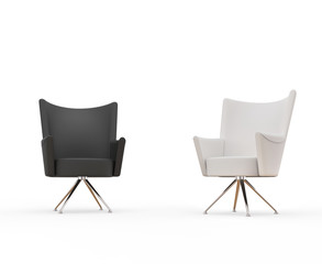 Modern armchairs - black and white